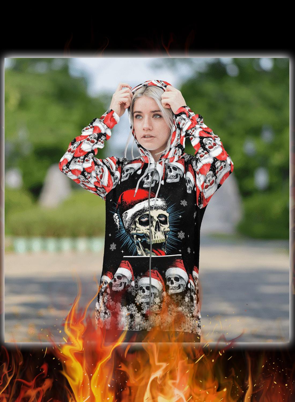 Naughty skull xmas 3d hoodie and zip hoodie 4
