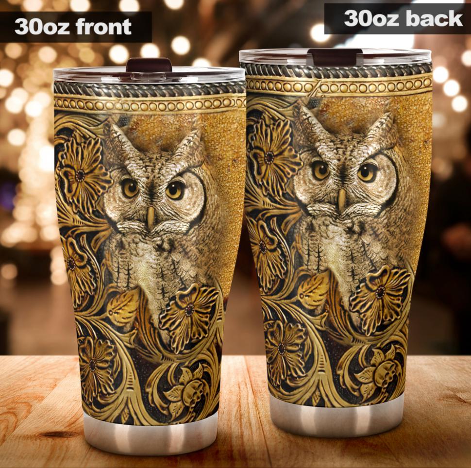 Owl vintage tumbler - dnstyles