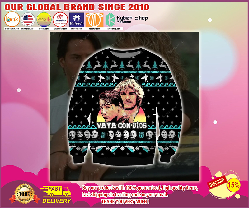 POINT BREAK VAYA CON DIOS UGLY CHRISTMAS SWEATER - LIMITED EDITION BBS