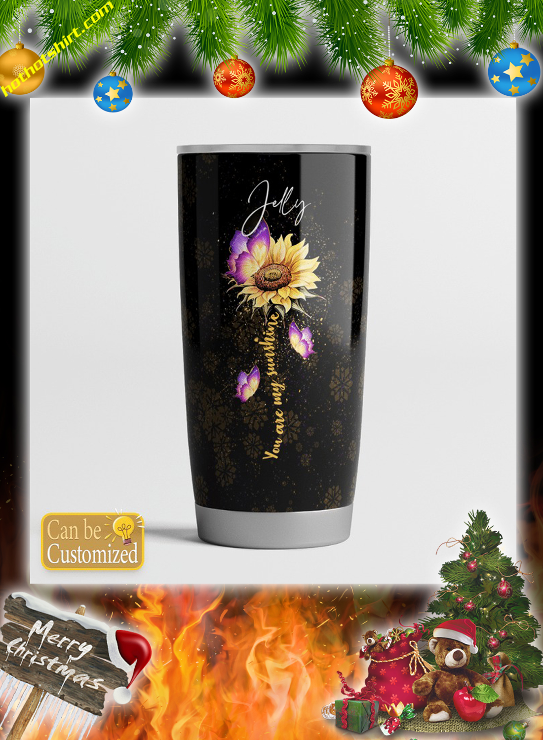 Personalized custom name To my wife you are my sunshine tumbler 4