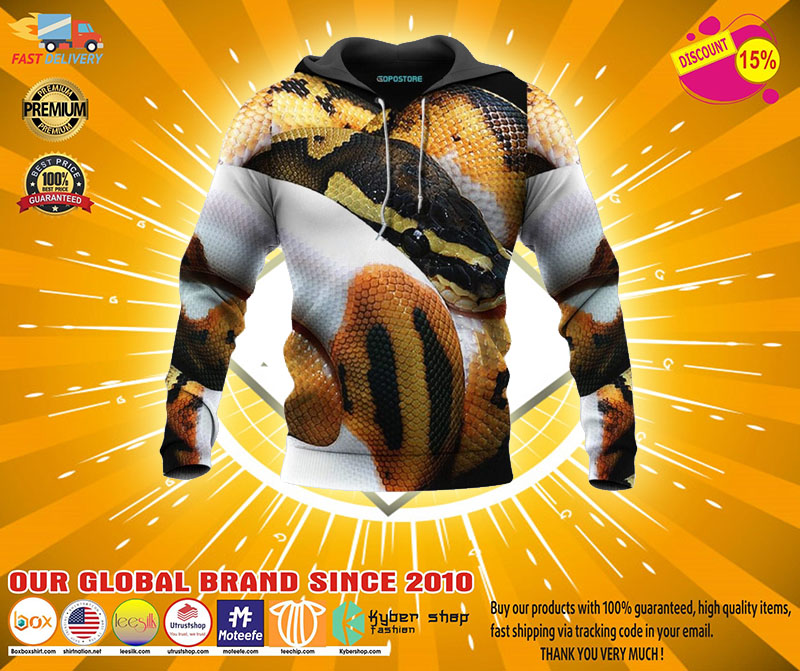 Python all over print 3D hoodie - LIMITED EDITION