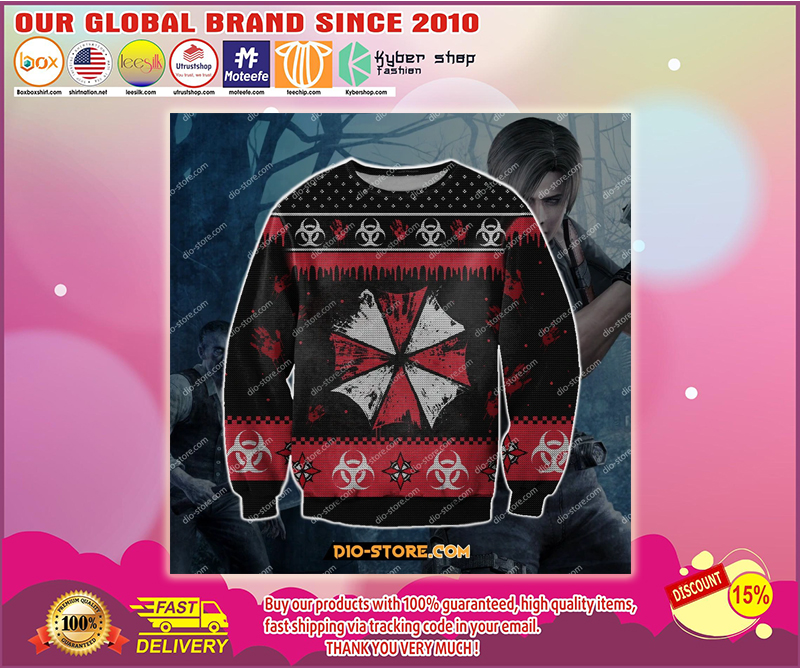 RESIDENT EVIL UGLY CHRISTMAS SWEATER - LIMITED EDITION BBS
