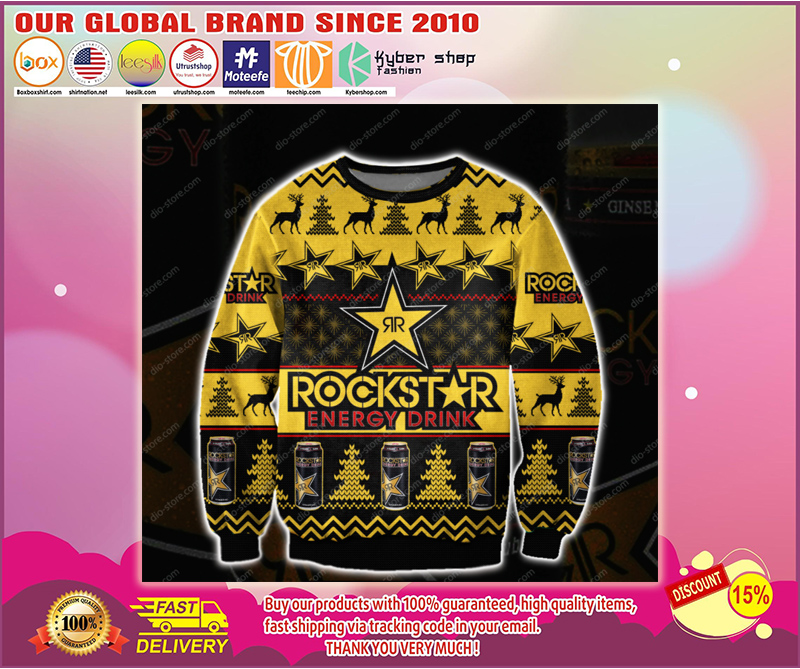 ROCKSTAR ENERGY DRINK UGLY CHRISTMAS SWEATER - LIMITED EDITION BBS