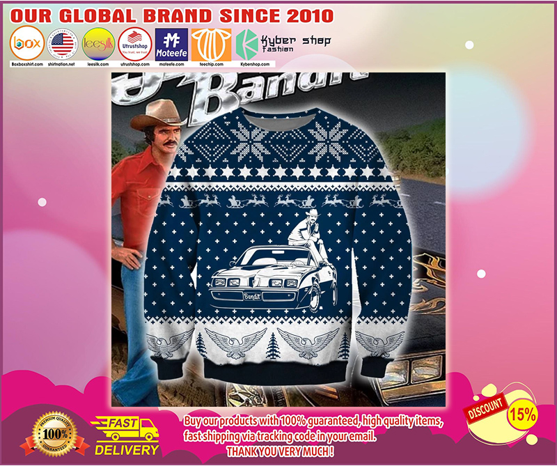 SMOKEY AND THE BANDIT UGLY CHRISTMAS SWEATER - LIMITED EDITION BBS