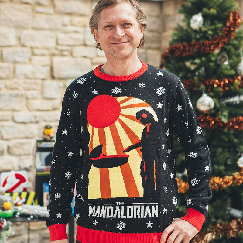 Star Wars The Mandalorian christmas sweater and jumper- pic 1