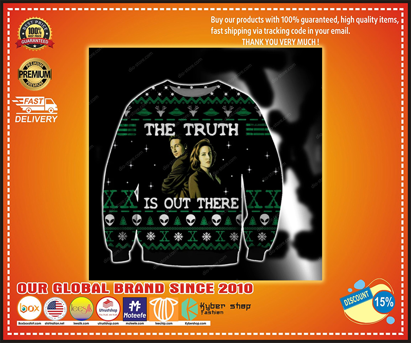 THE TRUTH IS OUT THERE UGLY CHRISTMAS SWEATER - LIMITED EDITION BBS