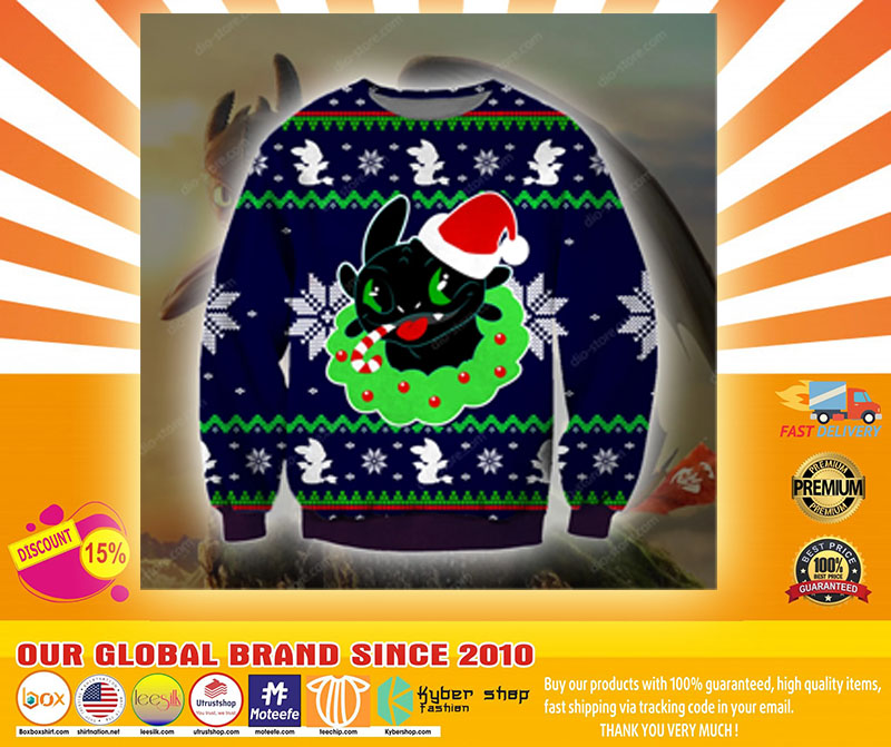 TOOTHLESS KNITTING PATTERN UGLY SWEATER - LIMITED EDITION