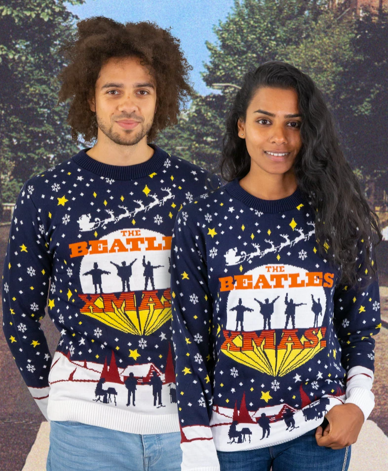 The Beatles Xmas ugly sweater