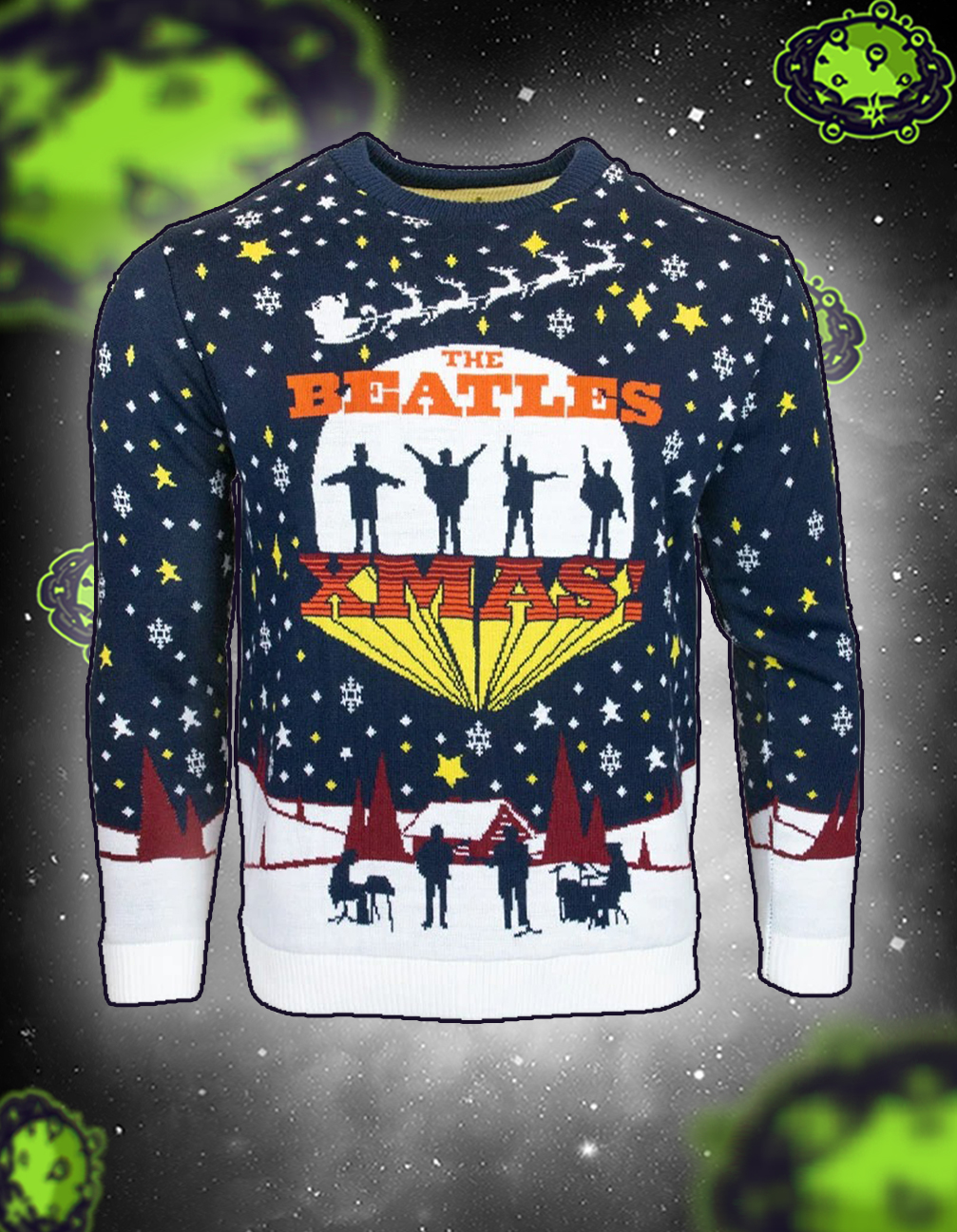 The beatles xmas jumper and ugly sweater