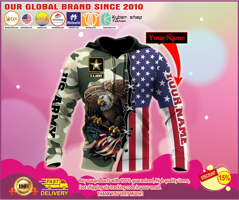 US Army Veteran 3D Personalized All Over Printed Hoodie - LIMITED EDITION BBS