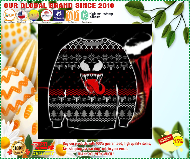VENOM UGLY CHRISTMAS SWEATER - LIMITED EDITION BBS