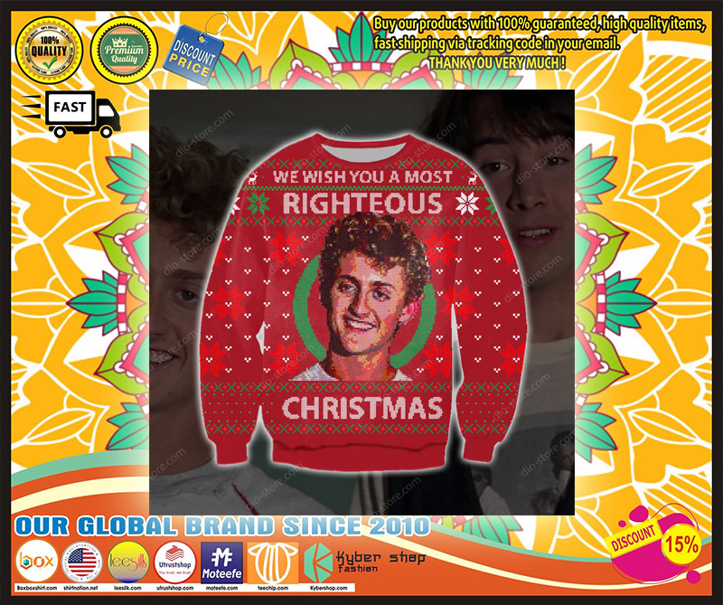 WE WISH YOU A MOST RIGHTEOUS CHRISTMAS UGLY SWEATER