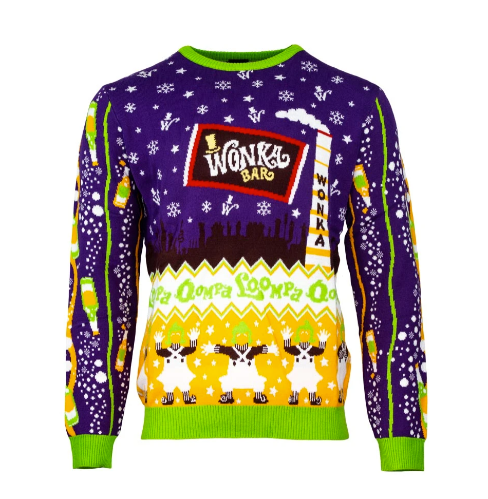 Willy Wonka & the Chocolate Factory ugly sweater - dnstyles