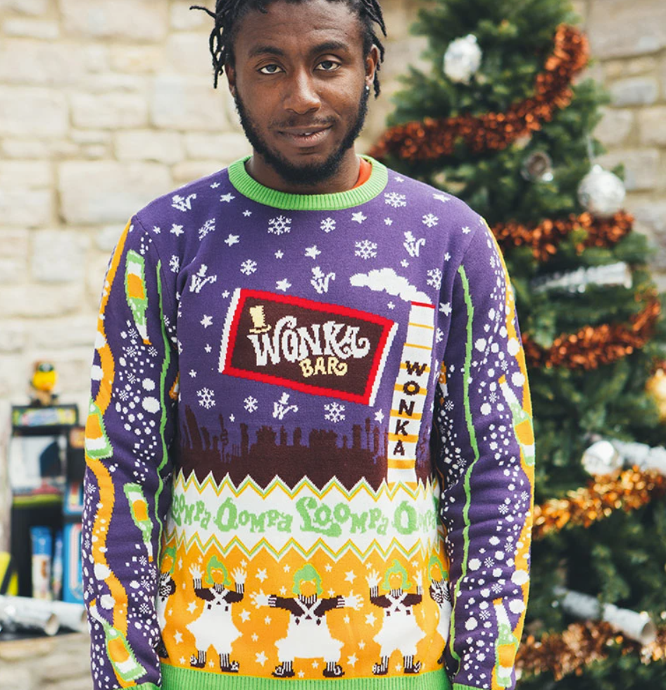 Willy Wonka & the Chocolate Factory ugly sweater
