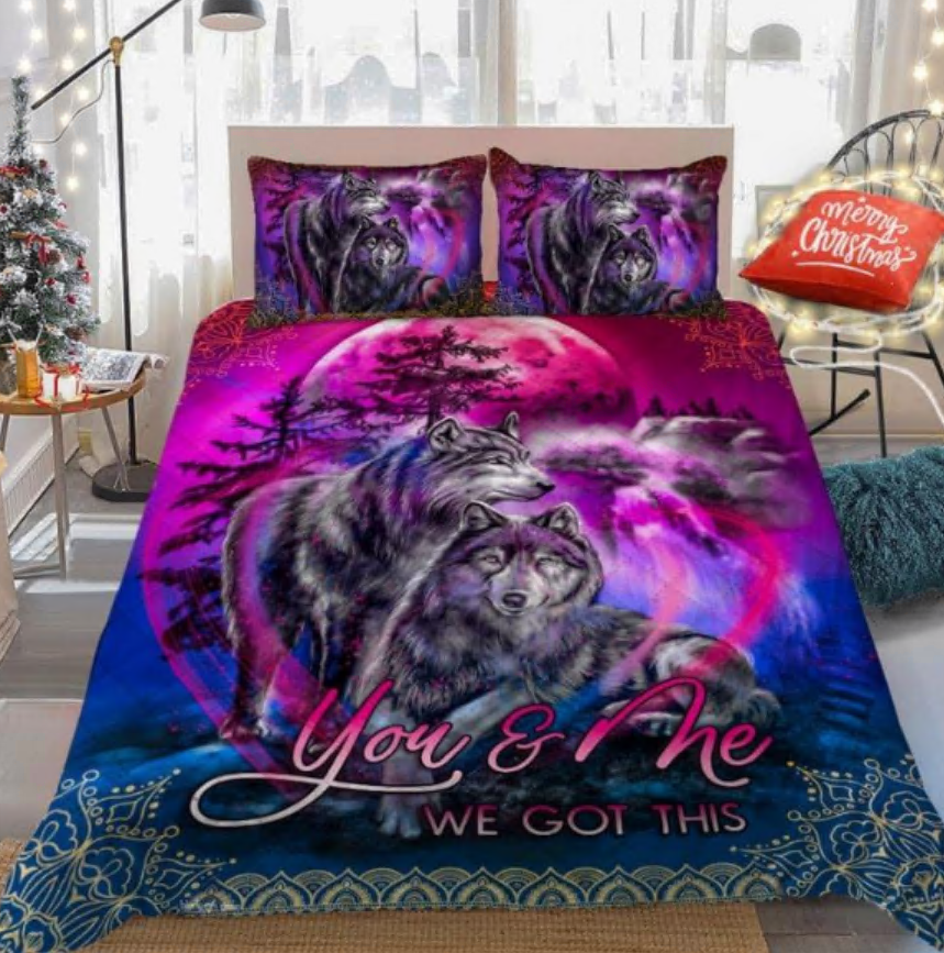 Wolf you and me we got this bedding set
