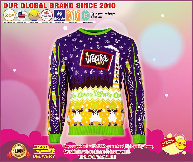 Wonka bar ugly christmas sweater - LIMITED EDITION BBS
