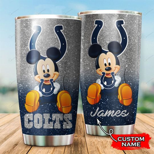 Indianapolis Colts Mickey Mouse Custom Name Tumbler