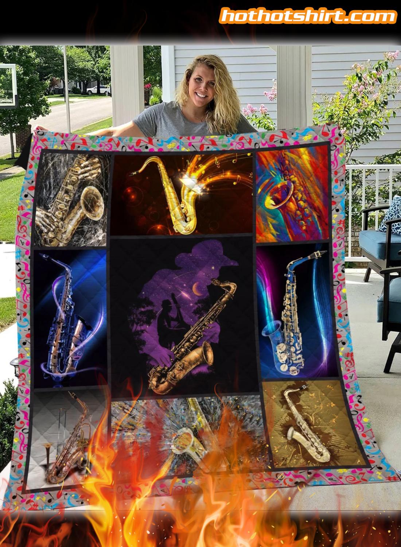 Saxophone Quilt Blanket