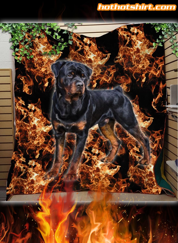 Rottweiler The Best Friends Quilt Blanket