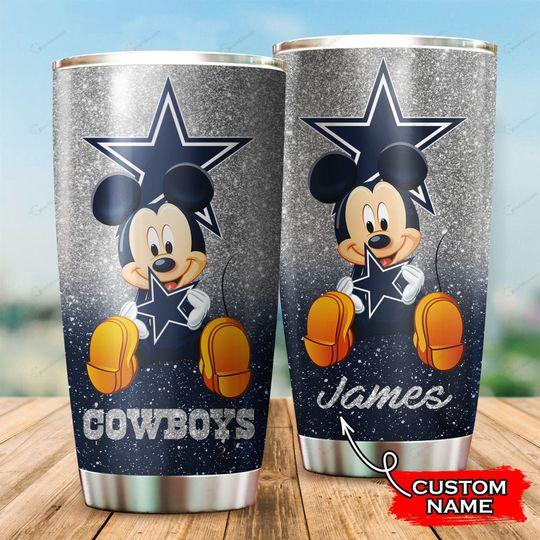 Dallas Cowboys Mickey Mouse Custom Name Tumbler