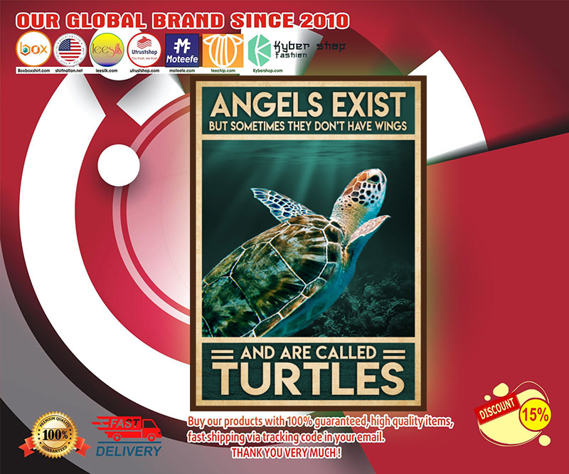Angels exist but sometimes they don't have wings and are called turtles poster