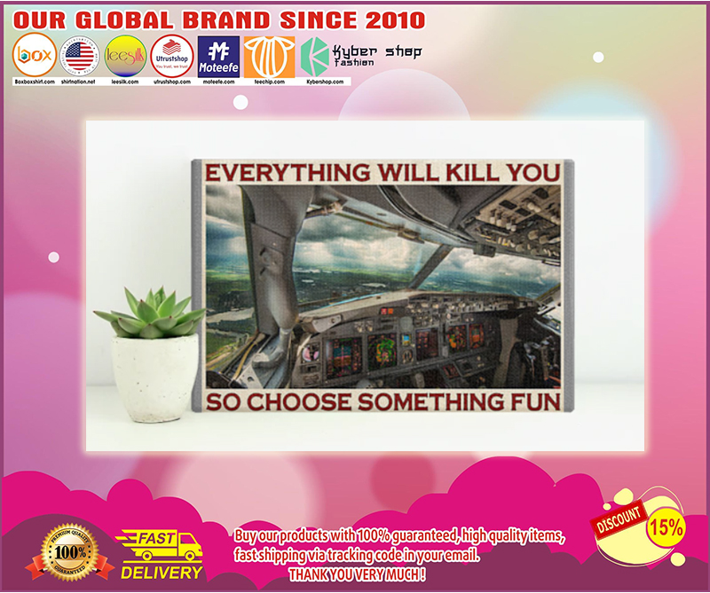 Aviation pilot everything will kill you so choose something fun poster - LIMITED EDITION BBS