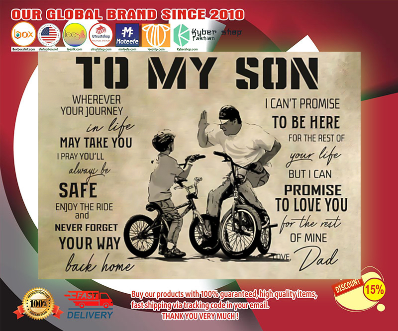 BMX to my son poster