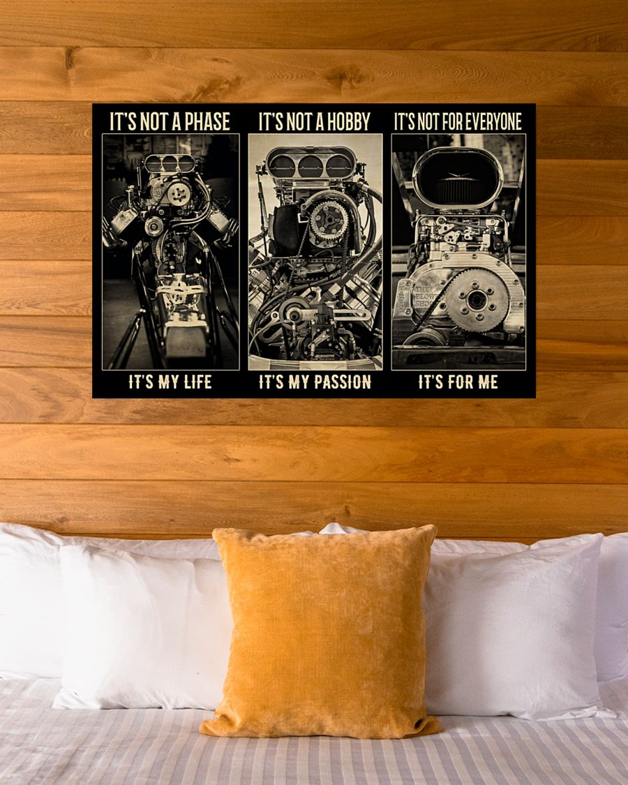 BW Engine It's not a phase It's not a hobby It's not for everyone poster - LIMITED EDITION