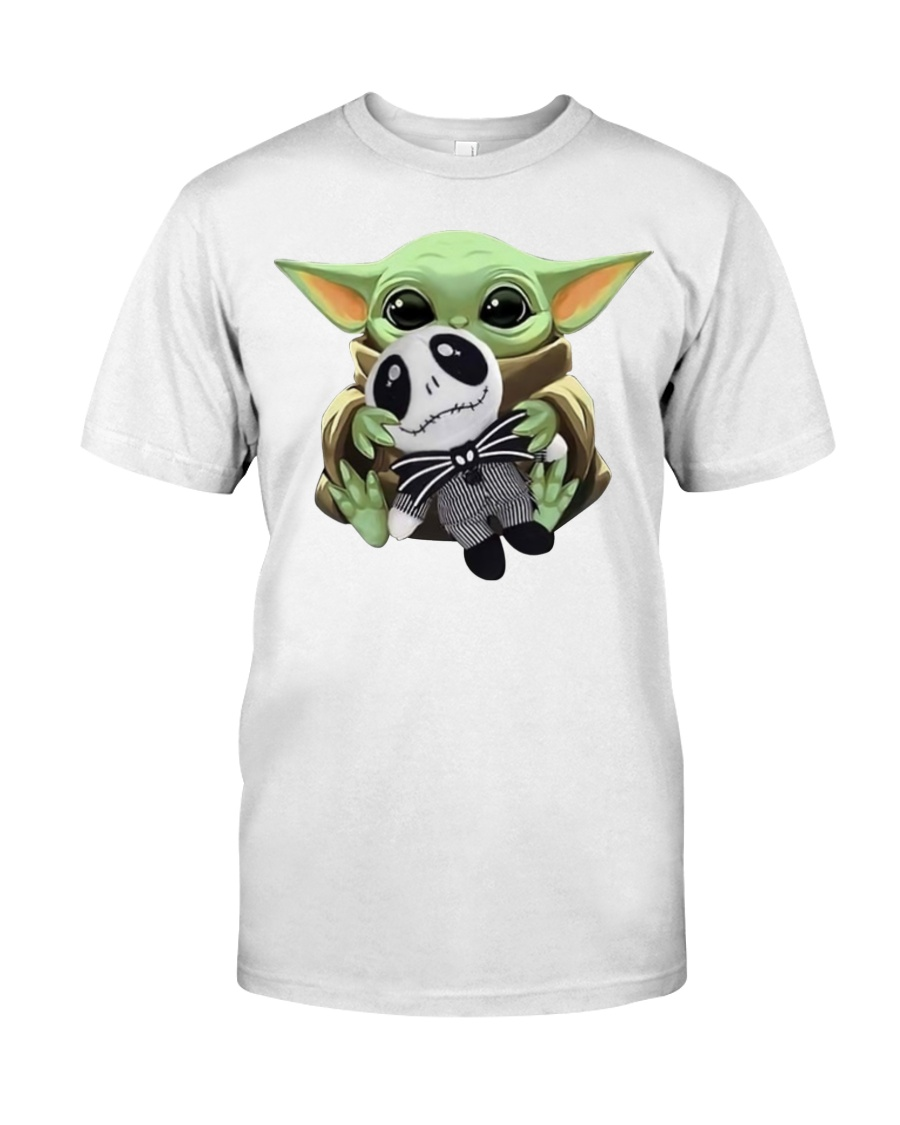Baby Yoda and Jack Skellington shirt