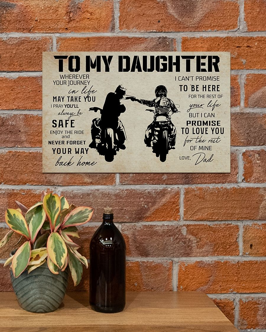 Biker to my daughter poster