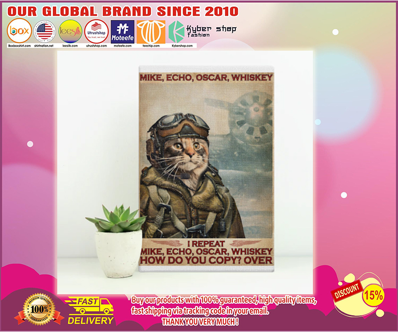 Cat I repeat mike echo oscar whiskey how do you copy over poster - LIMITED EDITION BBS