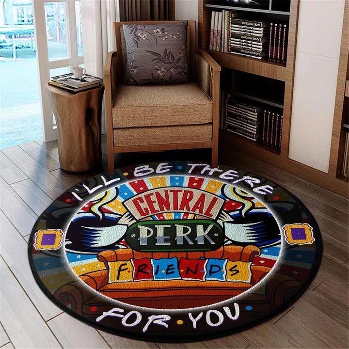 Central perk friends round carpet