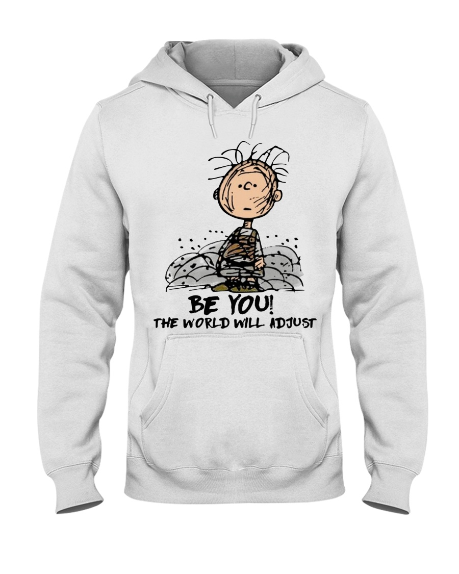 Charlie Brown be you the world will adjust shirt