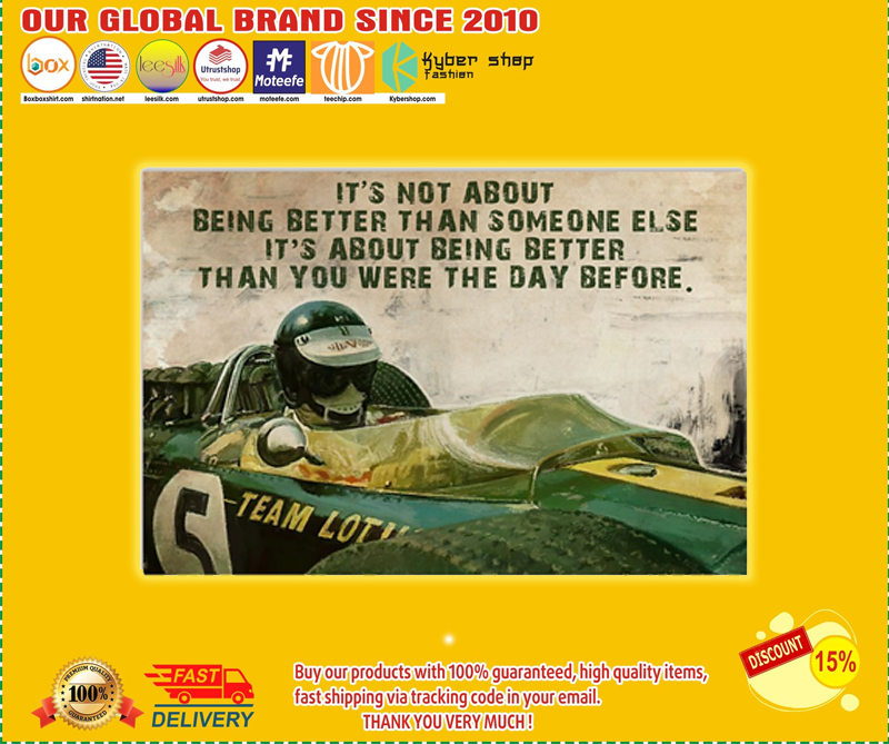 Classic FO Racer it's not about being better than someone else poster - LIMITED EDITION BBS