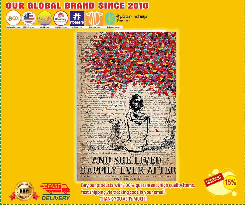 Crossbreed and she lived happily ever after poster - EDITION LIMITED BBS