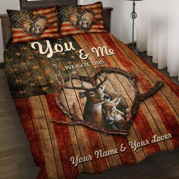 Deer Hunting You And Me We Got This Personalized Bedding Set
