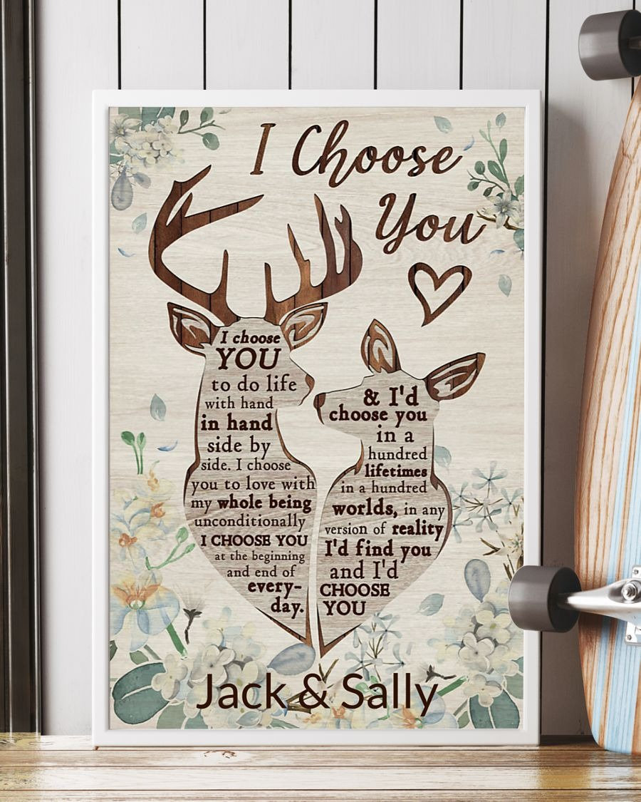 Deer I choose you to do life with hand in hand poster - LIMITED EDITION