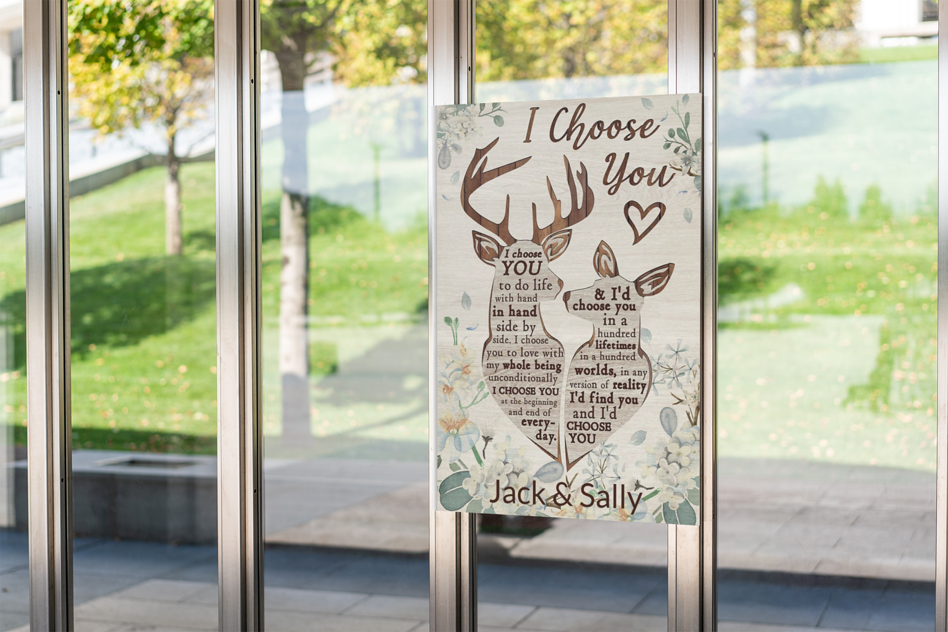 Deer I choose you to do personalized custom name poster