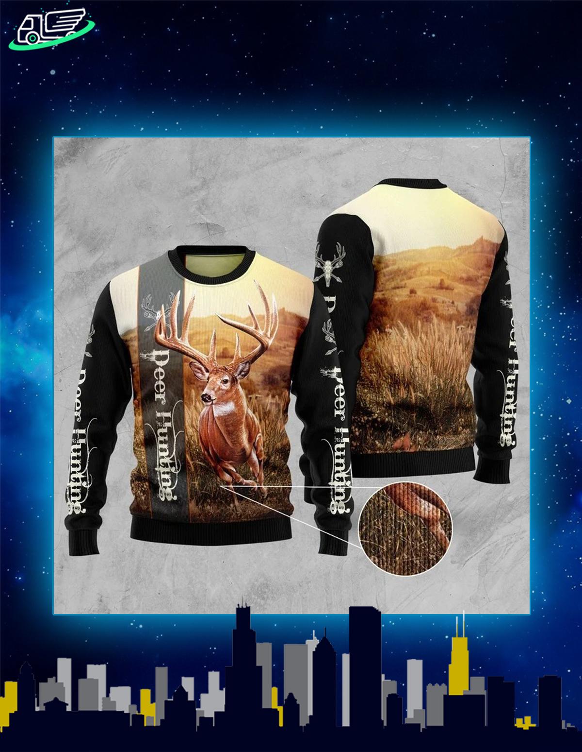 Deer hunting ugly christmas sweater