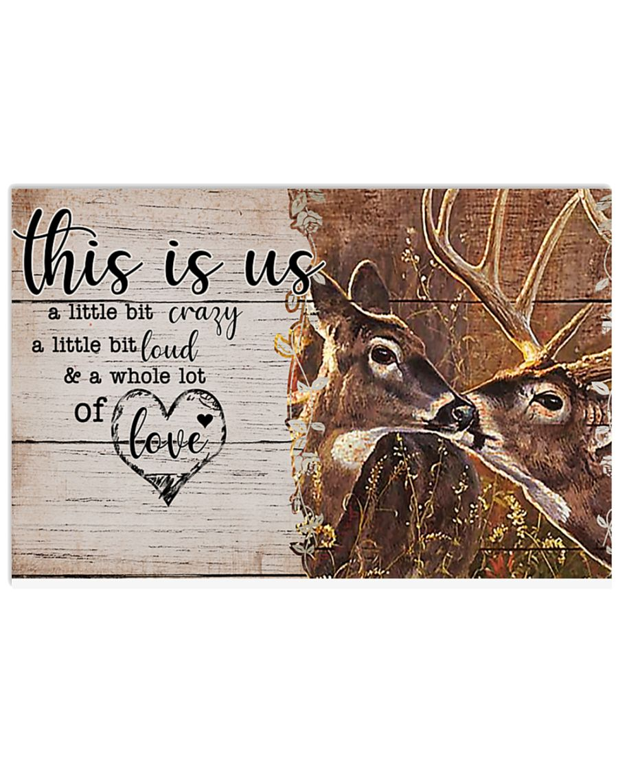 Deer this is us a little crazy custom personalized name poster – LIMITED EDITION
