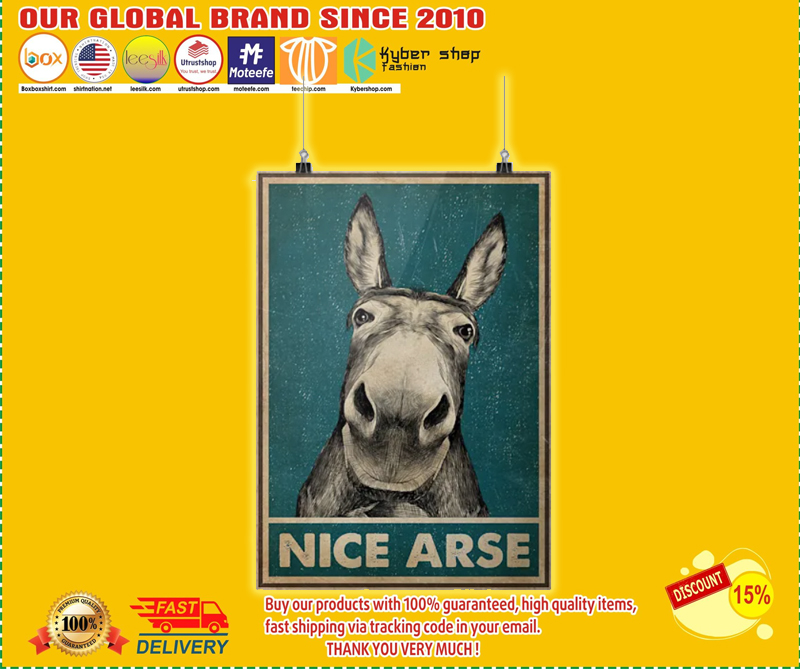 Donkey nice arse poster - LIMITED EDITION BBS