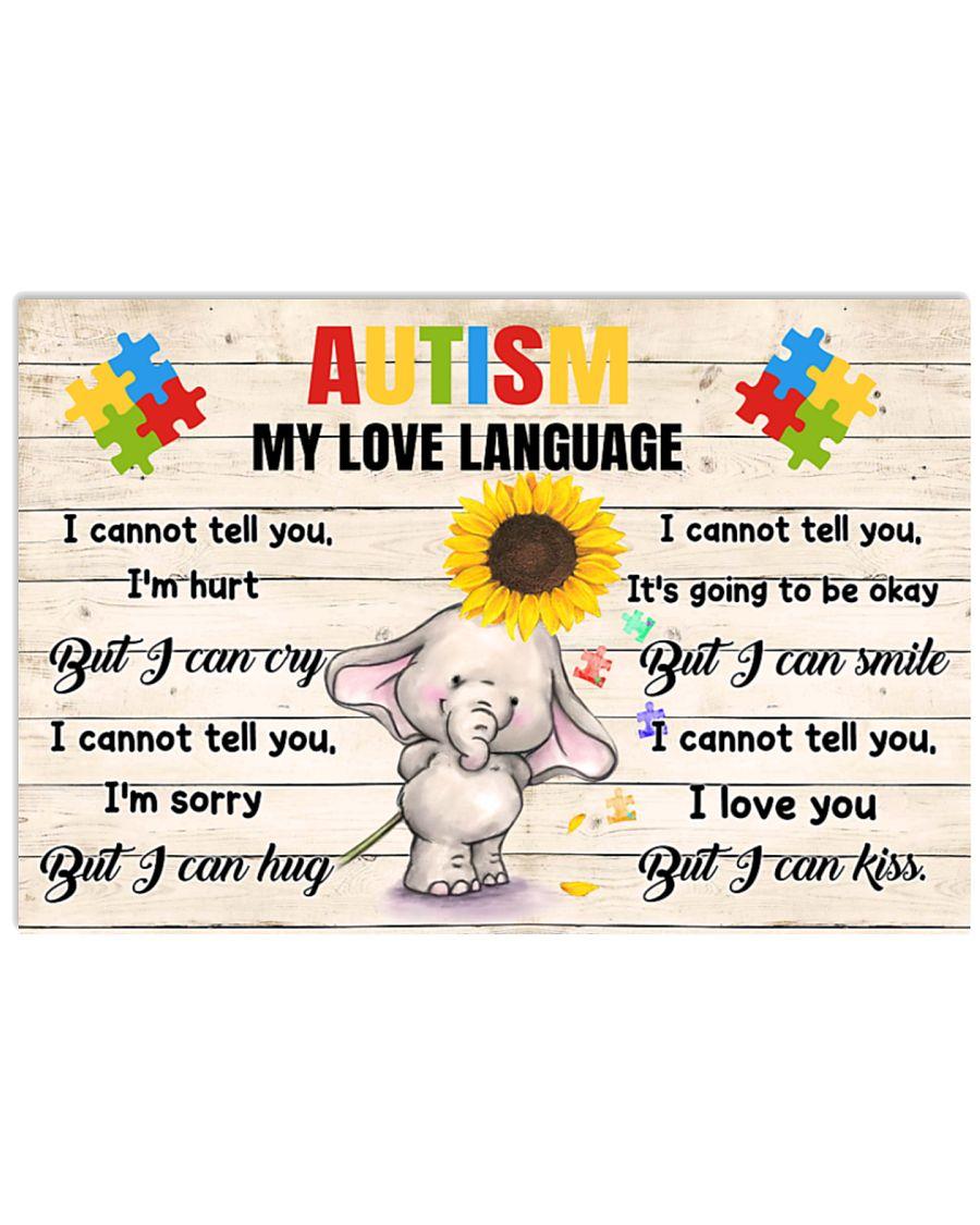 Elephant Autism my love language poster