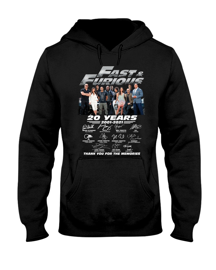 Fast and furious 20 year shirt