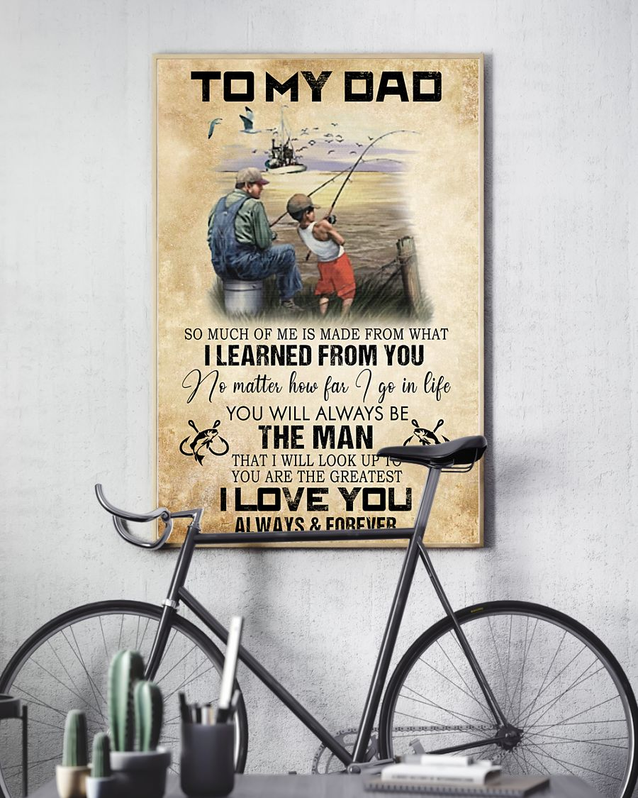 Fishing to my dad I learned from you poster - LIMITED EDITION