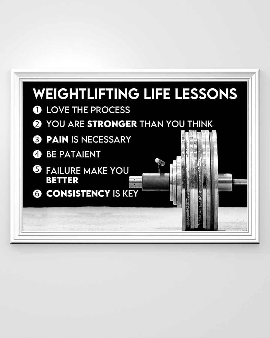 Fitness weightlifting life lessons poster - LIMITED EDITION