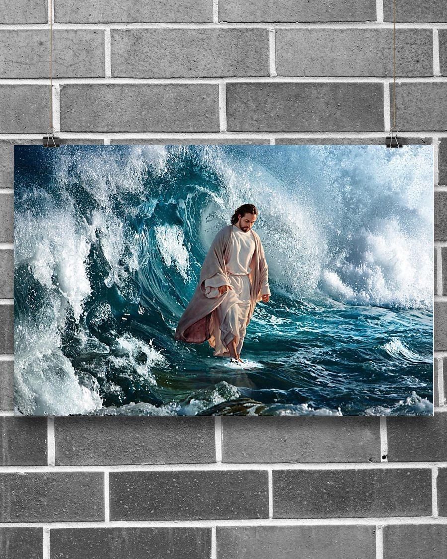 God He walks on water poster - LIMITED EDITION BBS