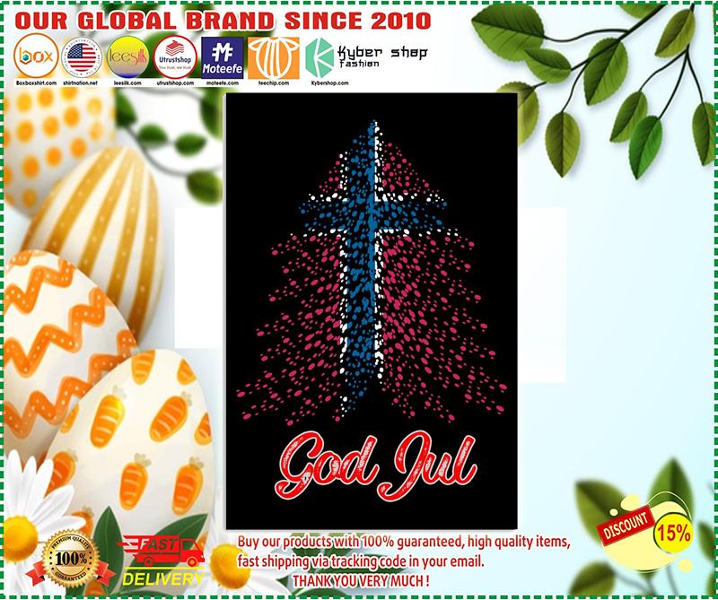 God Jul Norwegian flag poster - LIMITED EDITION BBS