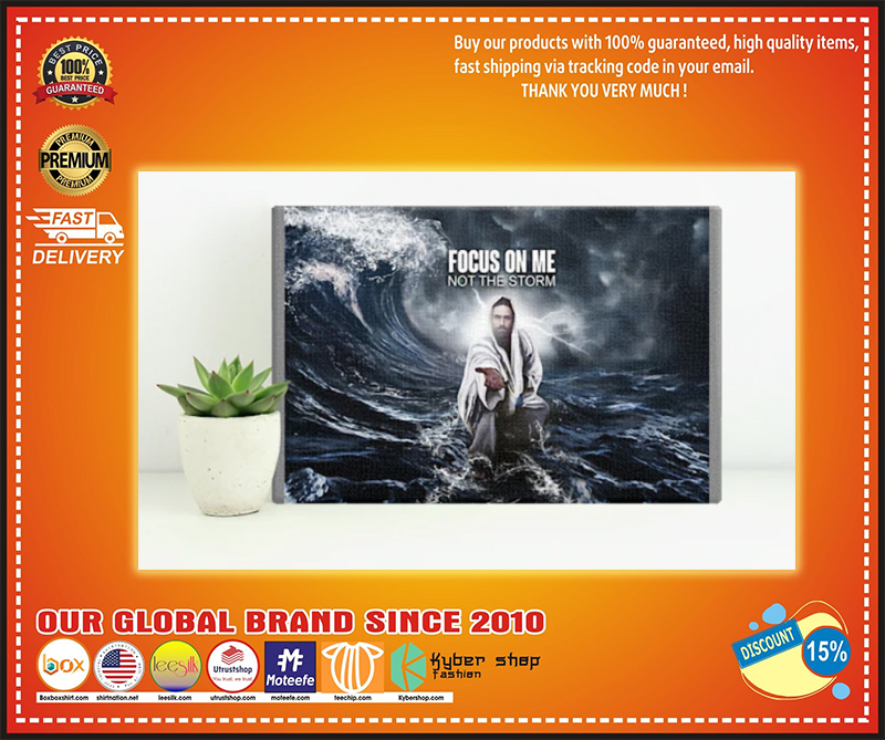 God focus on me not the storm poster - LIMITED EDITION BBS
