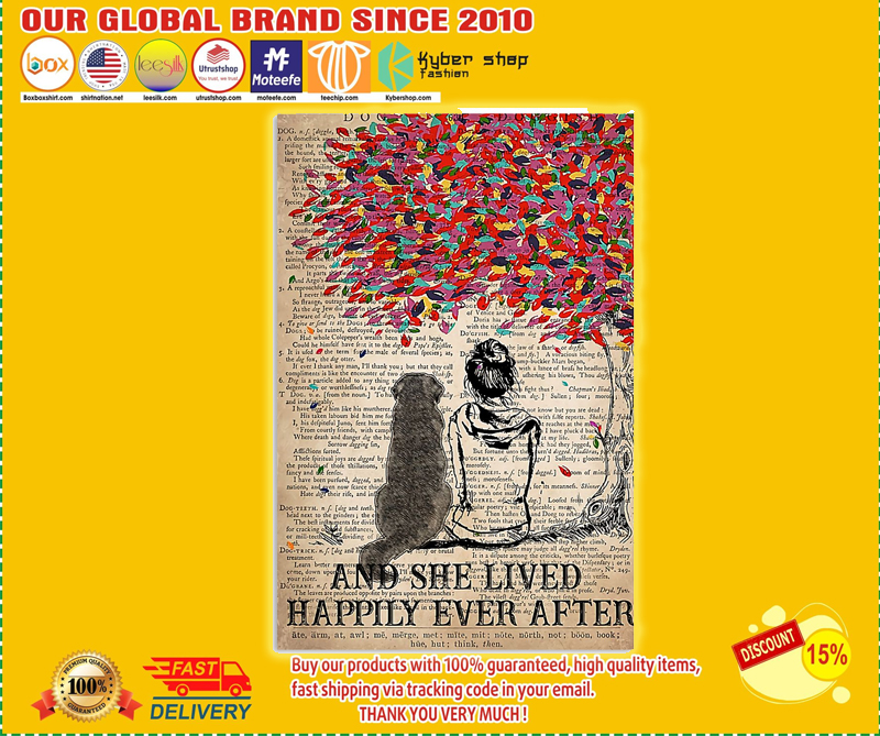 Great Pyrenees and she lived happily ever after poster - LIMITED EDITION BBS