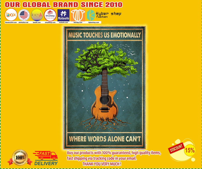 Guitar music touches us emotionally where words alone can't poster - LIMITED EDITION BBS